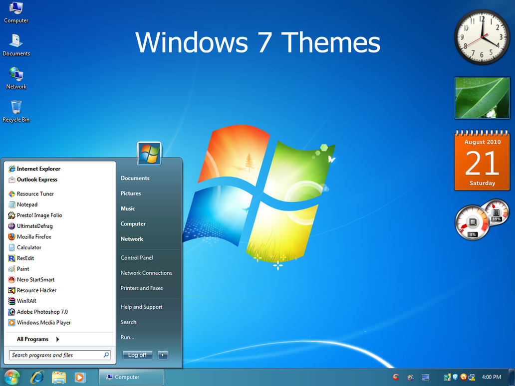 Windows 7 themes by vher528 on deviantart for Windows 7 bureau vide