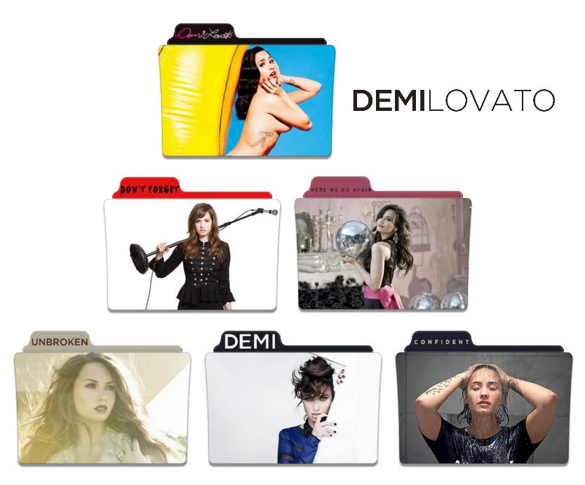 Demi Lovato Discography Folder Icon Pack By Nickohetenbern