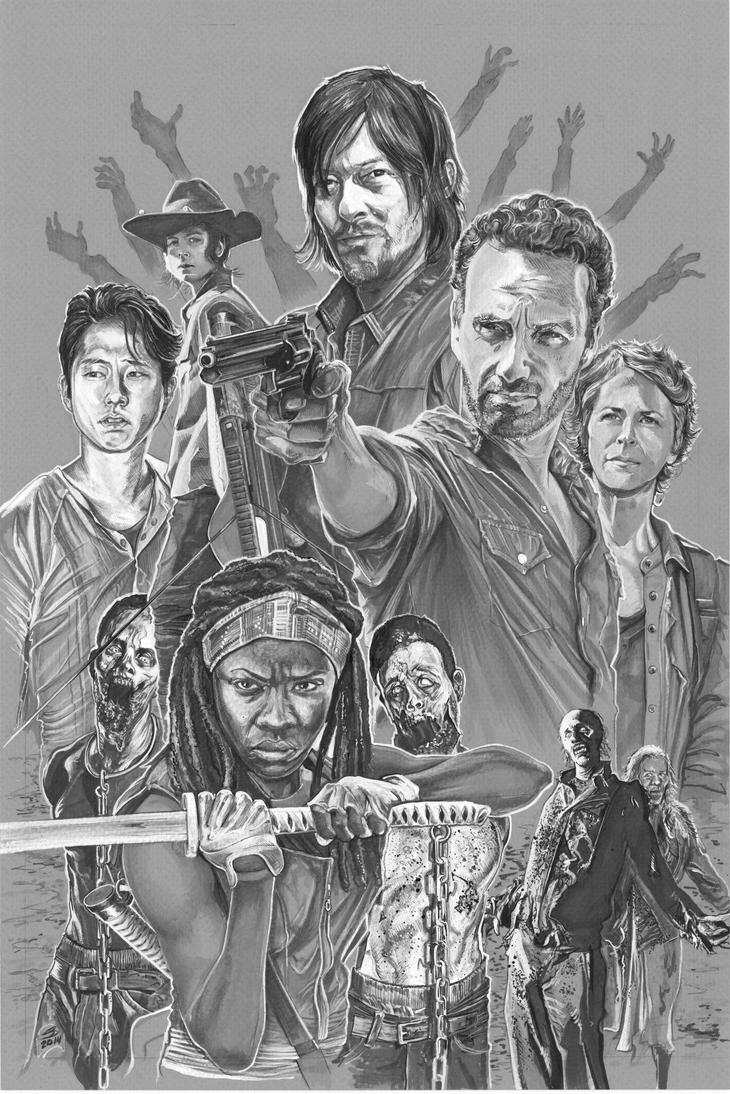 The Walking Dead Rick Grimes Daryl Dixon Michonne By