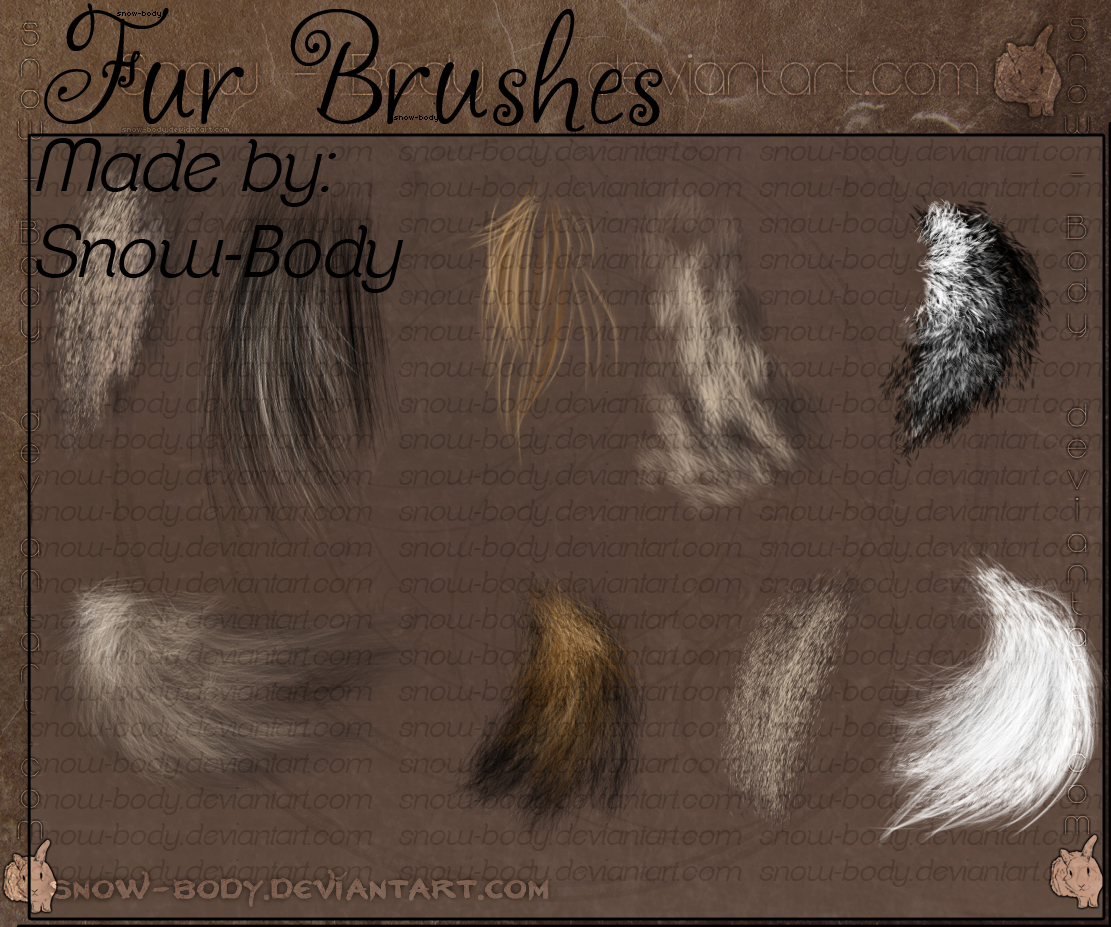 Brushes Fur 1 By Snow Body On Deviantart