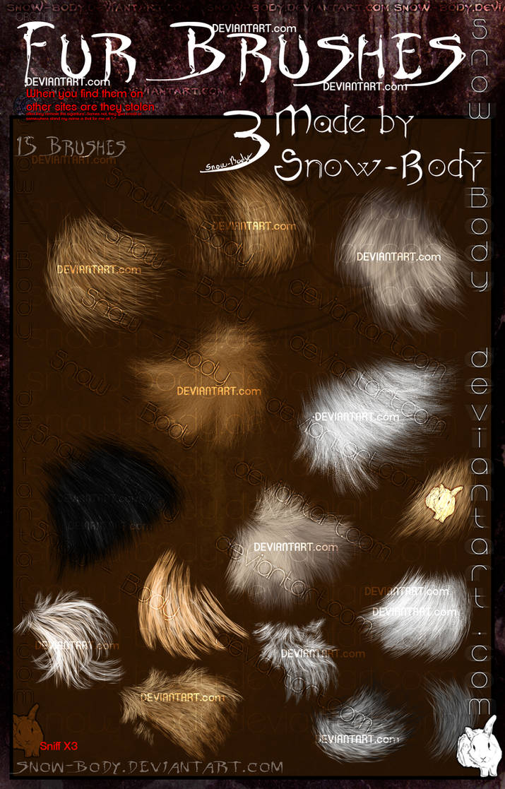 Brushes: Fur part: 3 by Snow-Body