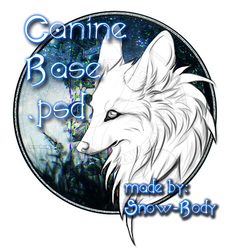 Canine Base.psd and .png by Snow-Body