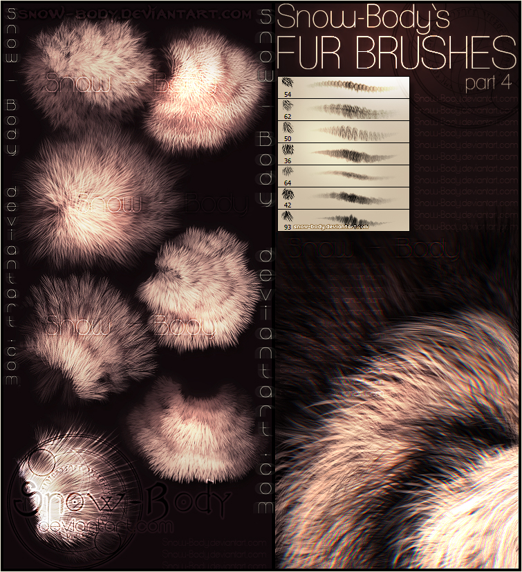 Brushes: Fur part: 4 by Snow-Body