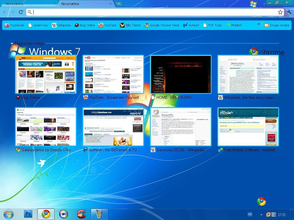 Themes za google - Win7 Google Chrome Theme By Wazzap9669
