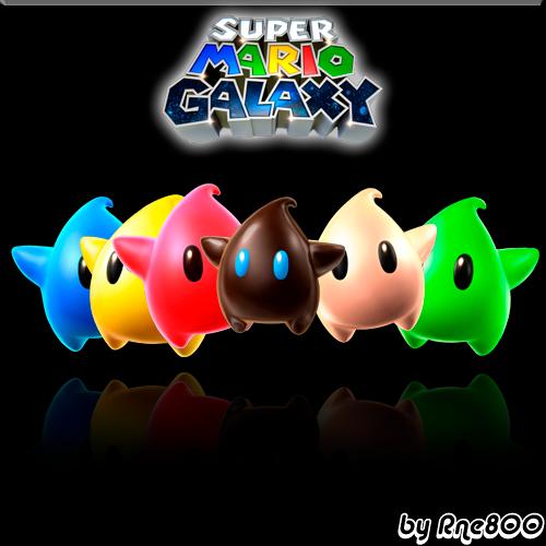 Super Mario Galaxy Stars by Rne800