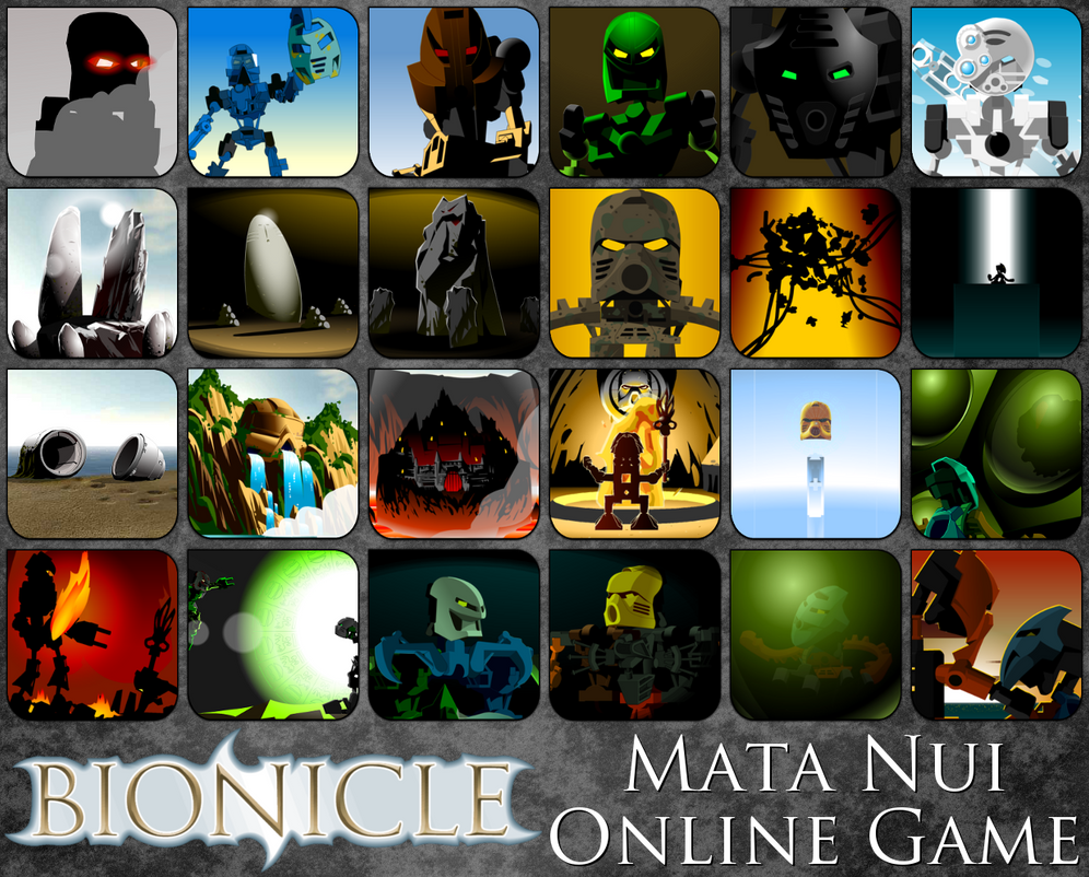absurdly huge mata nui online game icon pack by alphaprime02 on