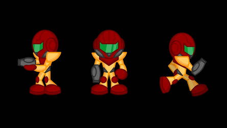 Animated Metroid Sprites 1: Samus by LegendaryFrog