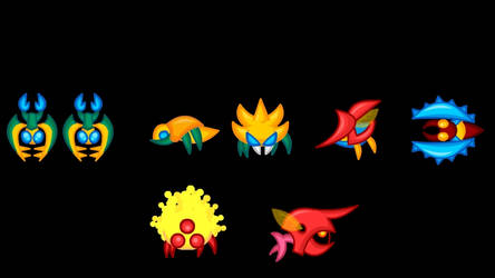 Animated Metroid Sprites 2: Monsters 1 by LegendaryFrog