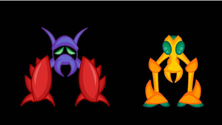 Animated Metroid Sprites 4: Monsters 3 by LegendaryFrog