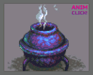 Pixelart small Cauldron sprite