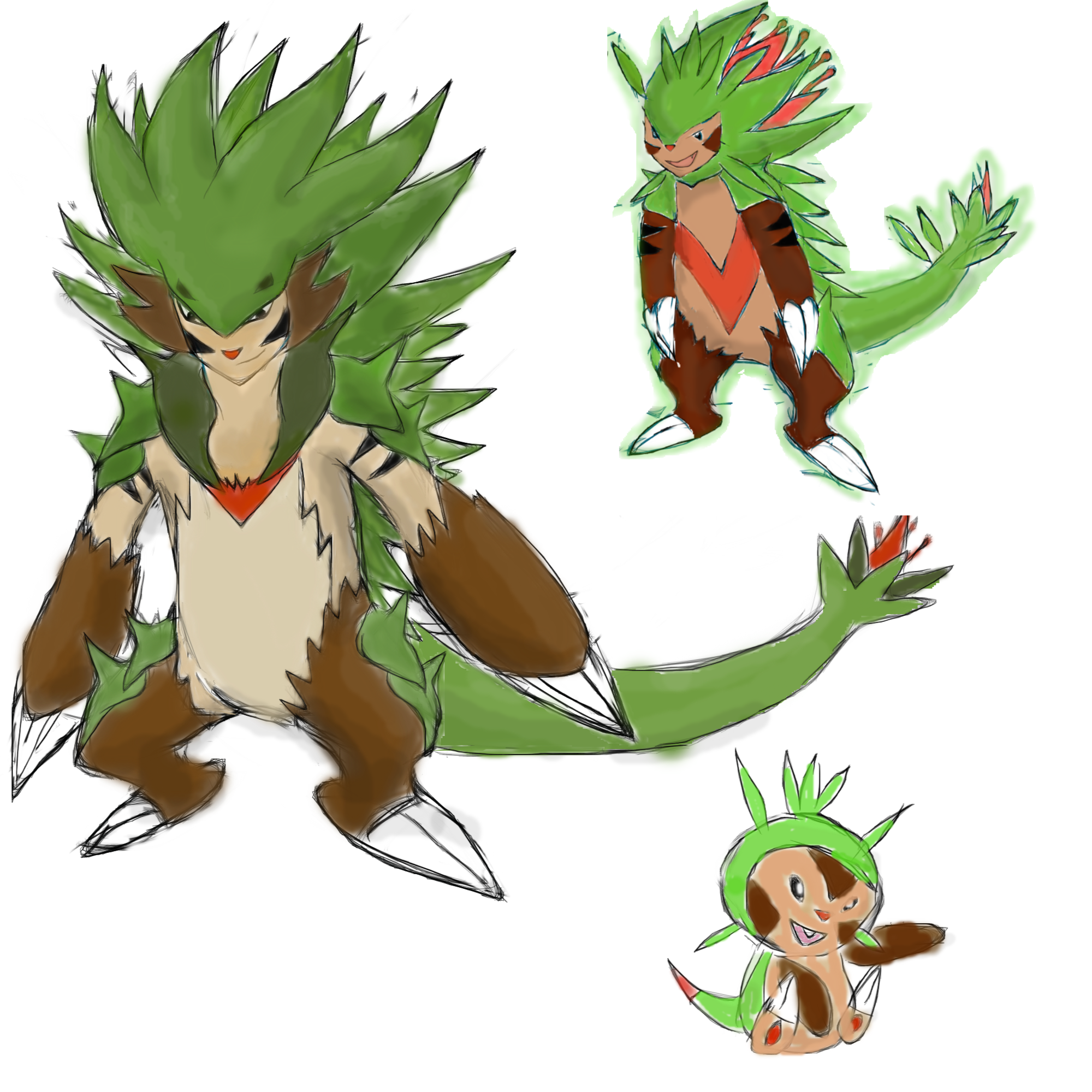 chespin evolution line by roblee96 on DeviantArt
