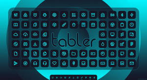 Tabler Blue Icons