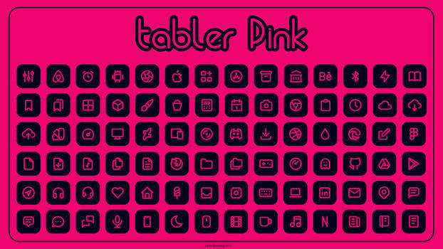 Tabler Pink Icons