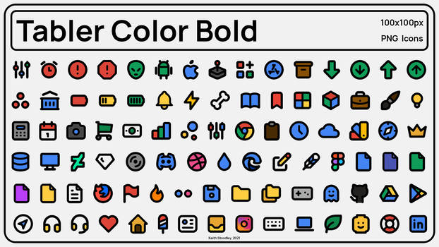Tabler Color Bold Icons