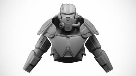 XT-6 Power Armor WIP 4 Turntable