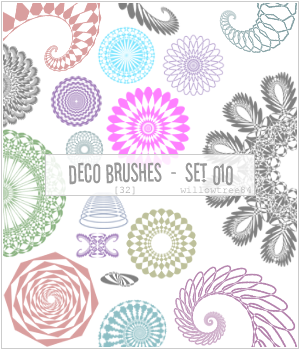 decorative brushes - set 010 by willowtree84