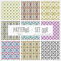 patterns - pack 008 by willowtree84
