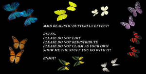 MMD Realistic Butterflies