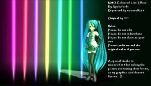 MMD Coloured Line Effect DL