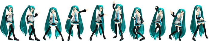 MMD Two Faced Lovers Pose Pack 1 DL