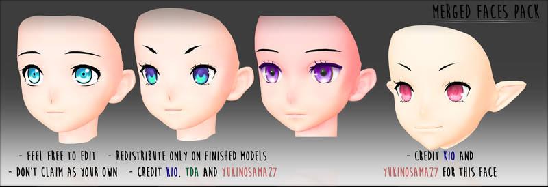 Merged Faces - DOWNLOAD - by YukinoSama27
