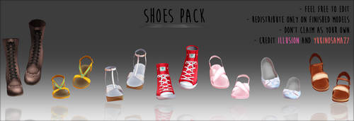 Shoes Pack - DOWNLOAD - by YukinoSama27