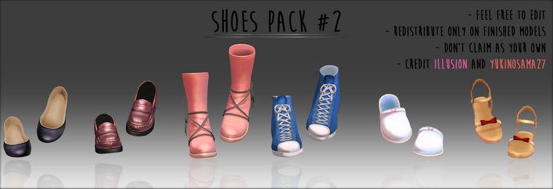 Shoes pack #2 - DOWNLOAD -