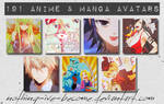 191 Anime and Manga Avatars by Nothing-Ive-Become