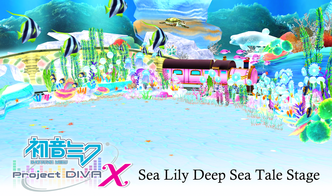 Mmd Project Diva X Sea Lily Deep Sea Tale Stage By Terrathde On