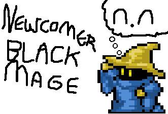 New Comer Black Mage by CurioDarkon