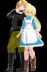 Tda Rinto and Lenka Kagamine Outer Science [DL] by xXMofuMofuXx