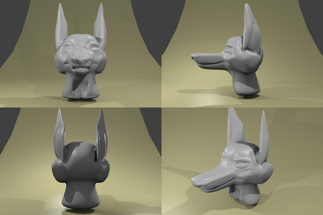 3D anthro head download by Dr-Pen