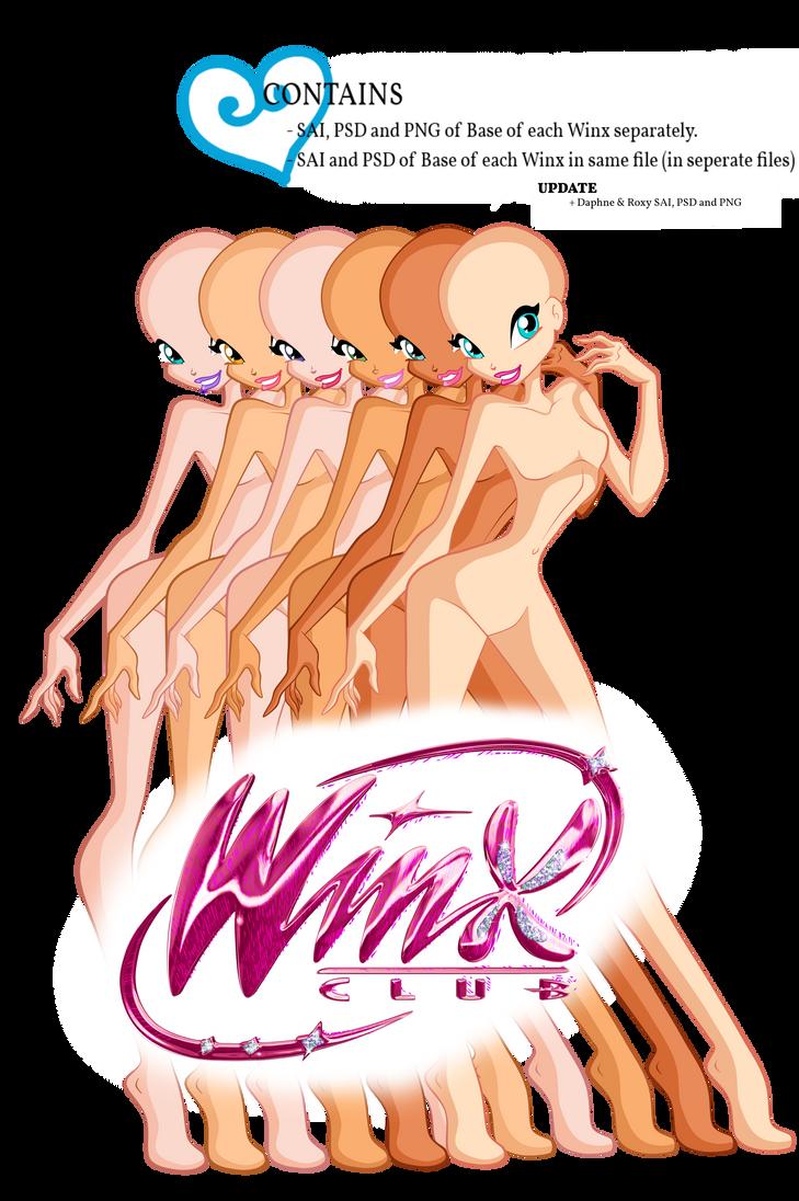 UPDATE: Winx Club Base Pack 1 by GreatSecretxD
