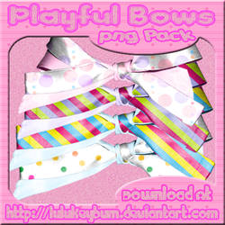 Playful Bows PNG Pack