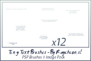 12 Tiny Text Brushes by ShalafiRach