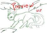Shy Leafeon Animation- WIP2 by nekonotaishou