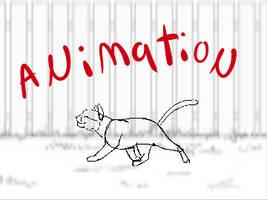 Smiling Kitty- personality walk cycle w/ BG pan by nekonotaishou
