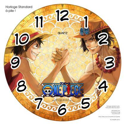 Horloge standard a pile One.Piece Bras de fer 1 by JoeyRex
