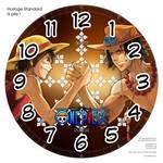 Horloge standard a pile One Piece Bras de fer  3