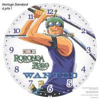 Horloge standard a pile One Piece Roronoa Zoro 1 by JoeyRex