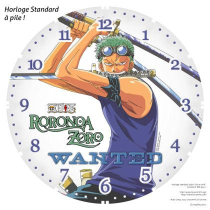 horloge standard a pile one piece roronoa zoro 1 by joeyrex on deviantart. Black Bedroom Furniture Sets. Home Design Ideas
