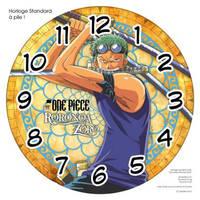 Horloge standard a pile One Piece Roronoa Zoro 3 by JoeyRex
