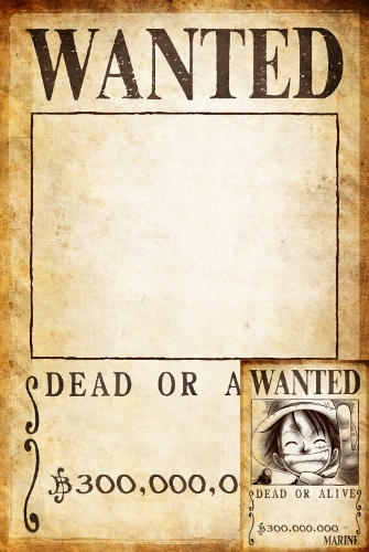 Clear one piece wanted poster 300 000 000 by joeyrex on - One piece wanted poster ...