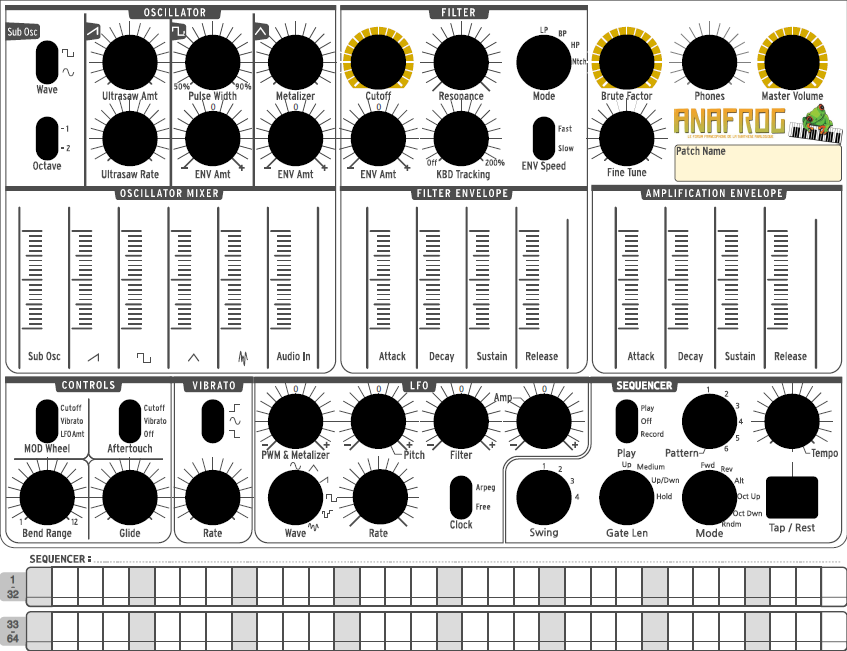 Minibrute Full Presetsheets Blank And Sequencer An by JoeyRex