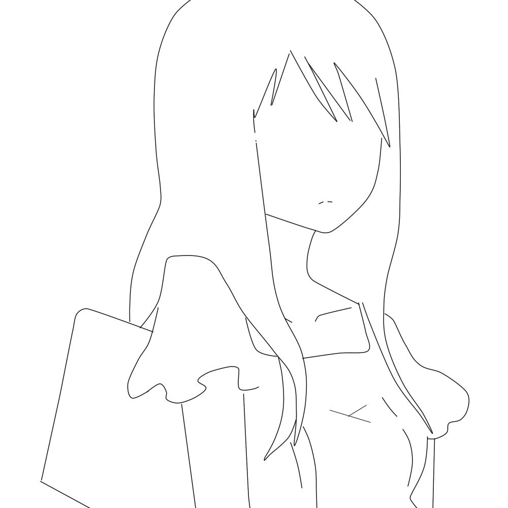 free line art feel free to use anime girl by kaylawaylalineart