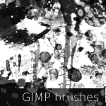 GIMP Splatter Brushes 1 by stockandroll