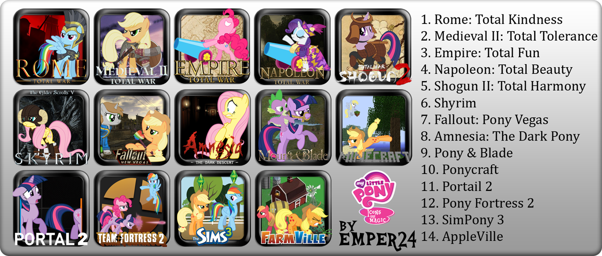 Pony Game Icon Set by Emper24
