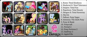 Pony Game Icon Set
