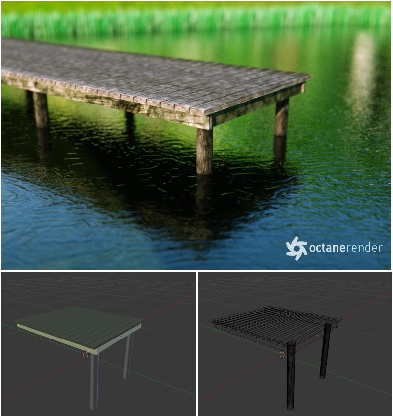Simple Pier (Free 3D Model blend + obj) by pnn32 on DeviantArt