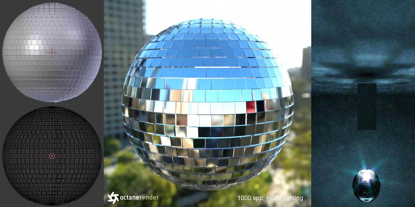 Mirror / Disco Ball (free 3D model  blend + obj) by pnn32